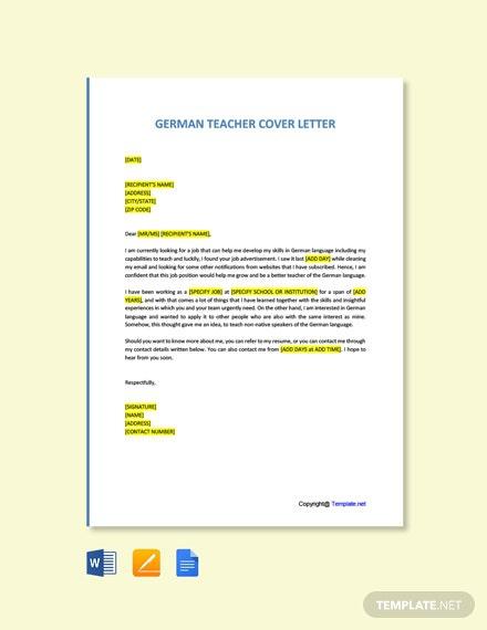 Free Teacher Cover Letter Templates