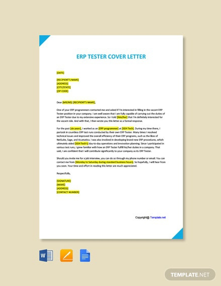 Free Tester Cover Letter Templates