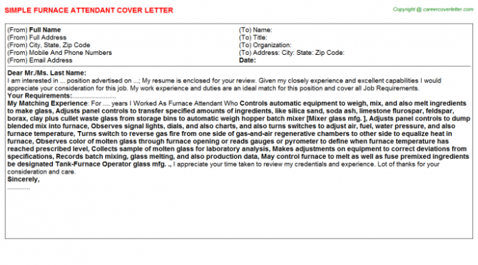 Gas Station Attendant Cover Letters
