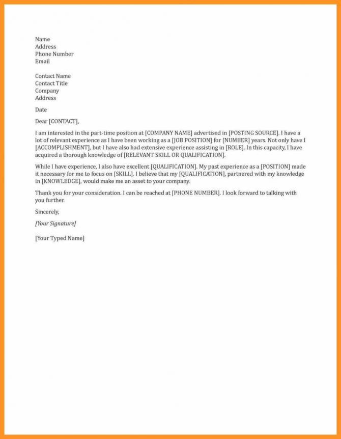 General Cover Letter Sample