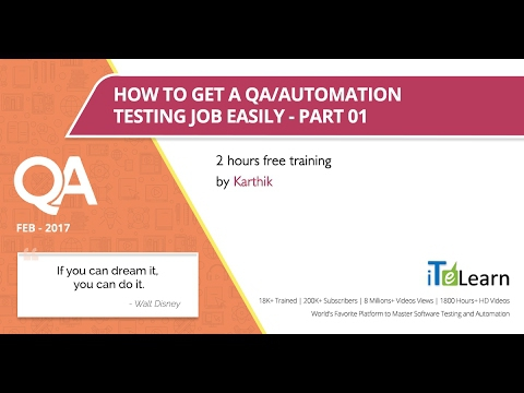 How To Get A Qaautomation Testing Job Quickly