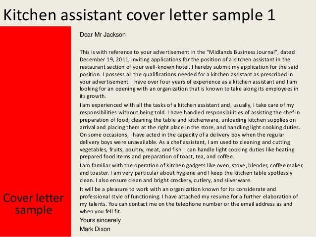 Image Result For Cover Letter For Cook Helper