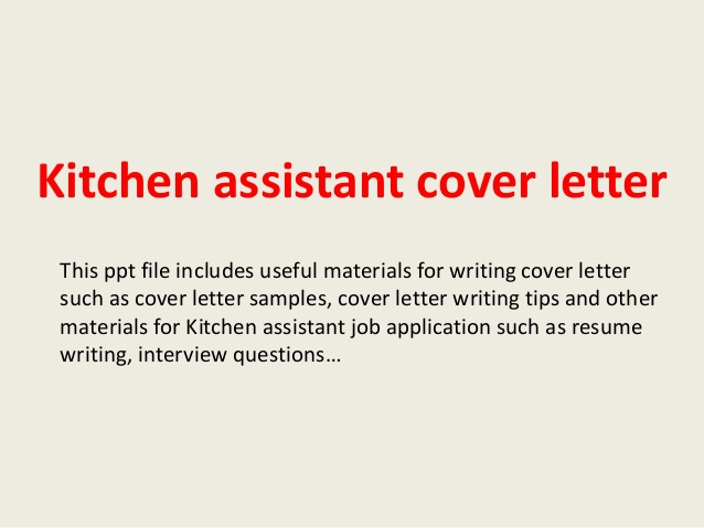 Kitchen Helper Cover Letter  Tell Tale Heart Book Cover