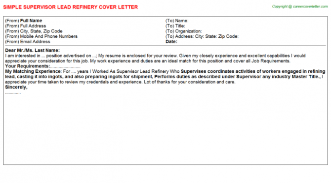 Lead Carpenter Foreman Carpenters Cover Letters