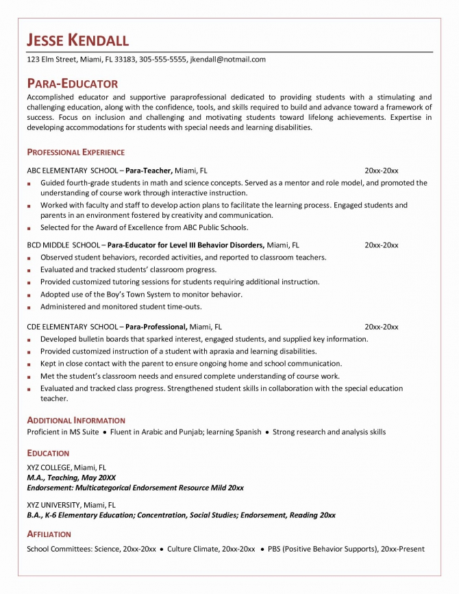 Letter Of Recommendation For Paraprofessional Best Of Cover Letter