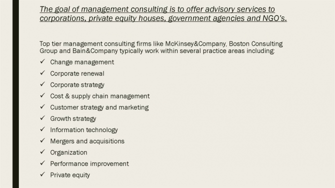 Management Consulting Cover Letters And Resumes