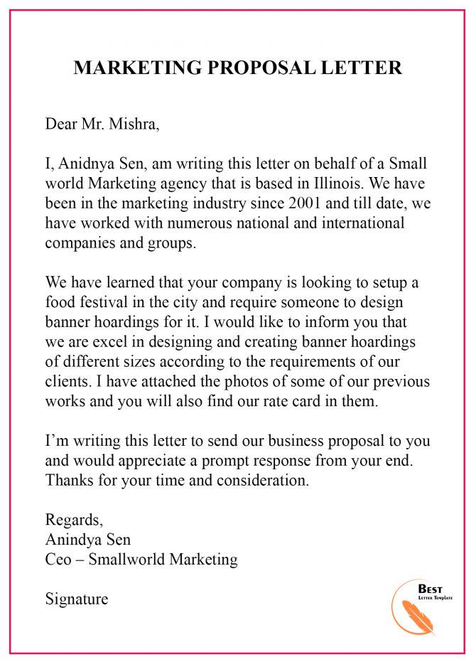 Small Business Marketing Letter