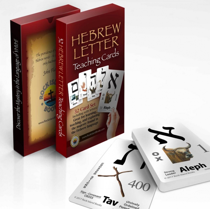 Modern Hebrew Letter Teaching Cards