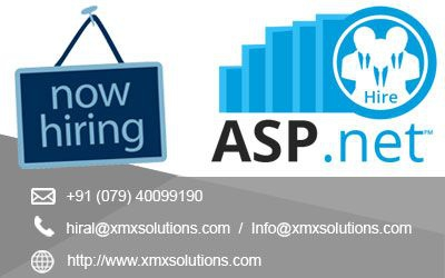 Opening For Asp Net Developer At Xmx Solutions Location
