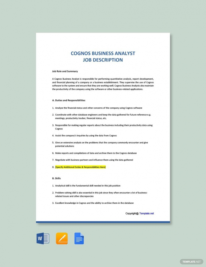 cognos business analyst cover letter samples  templates