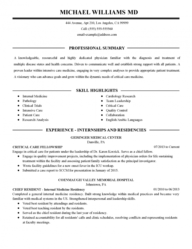 Professional Intensive Care Physician Templates To Showcase Your