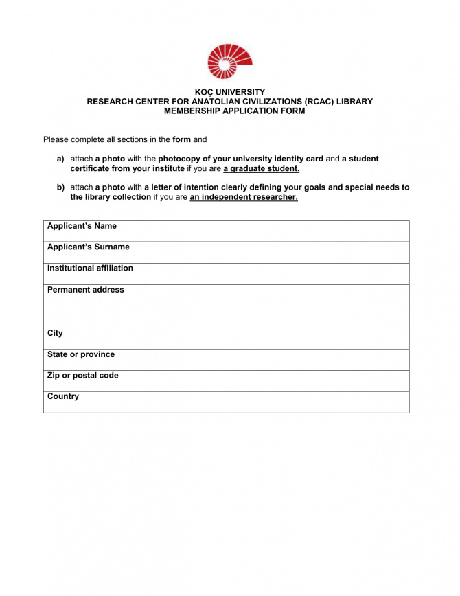 Rcac Library Membership Application Form