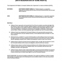 Assignment Of Rights In Computer Software With Reservation