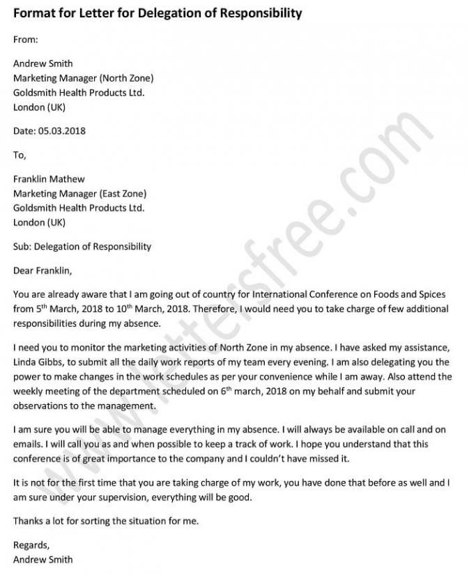Job Delegation Letter