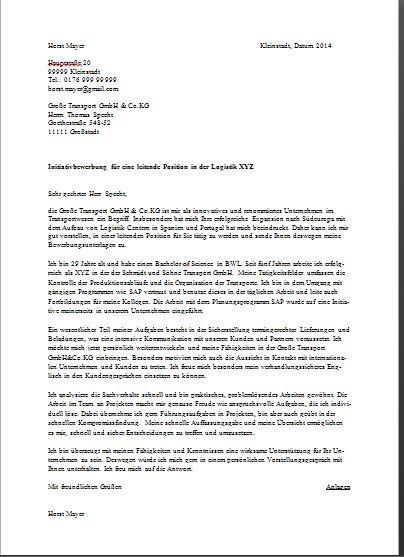 Sample German Cover Letter