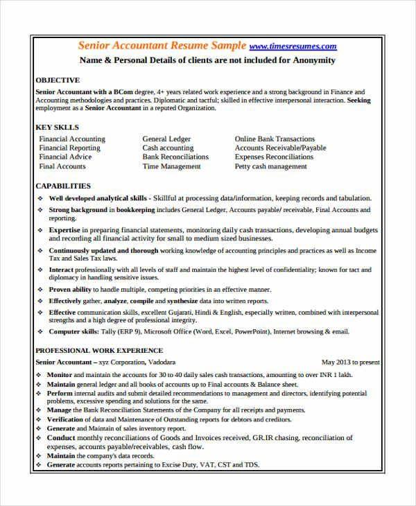 Templatenet  Accountant Resume Templates In Pdf Free Premium