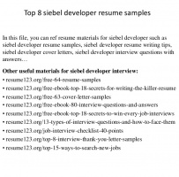 Siebel Consultant Cover Letter