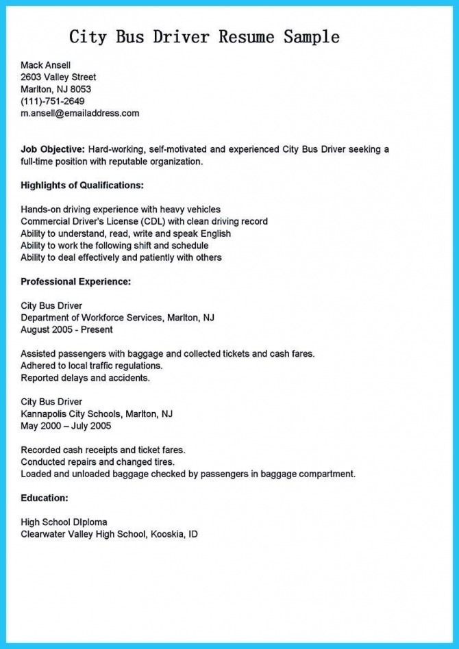 Truck Driver Resume No Experience Lovely Bus Driver Cover Letter