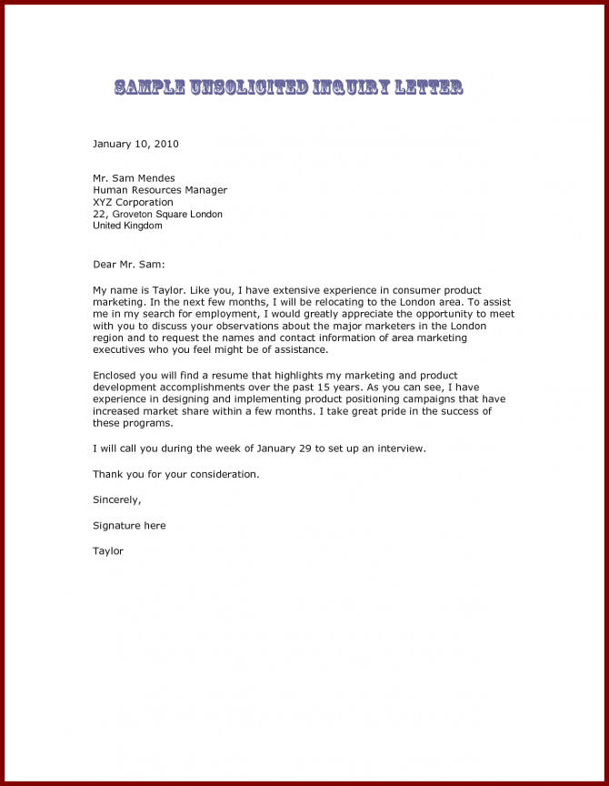 Unsolicited Application Letter For Fresh Graduate Engineer This